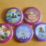 Niektóre ze znaczków pielgrzymkowych Józefa Palmera