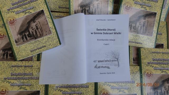 """Pierwsza część kroniki """"Świerkle (Horst) w Gminie Dobrzeń Wielki"""""""